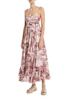Zimmermann Kali Hawaiian Long Linen Coverup Dress