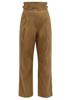 Zimmermann Ladybeetle high-rise belted trousers