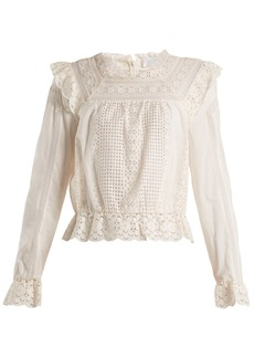 Zimmermann Laelia embroidered-lace top