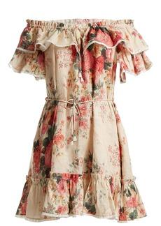 Zimmermann Laelia floral-print linen dress