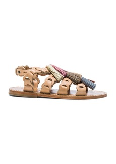 Zimmermann Leather Link Tassel Sandals
