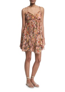 Zimmermann Lovelorn Floral-Print Sleeveless Mini Dress