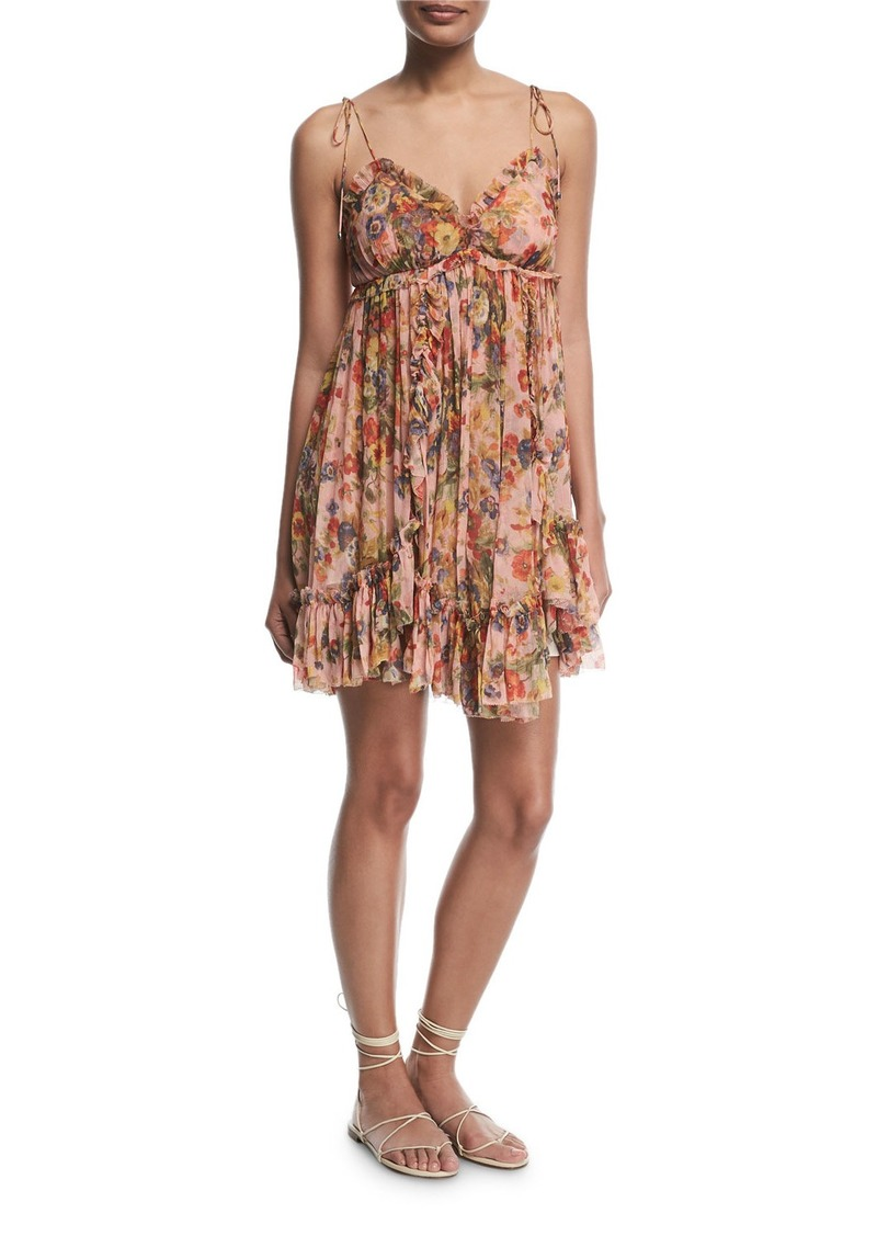 880f9a11aad003 Zimmermann Lovelorn Floral-Print Sleeveless Mini Dress