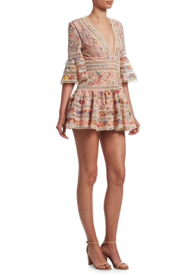 Lovelorn Lace Bell Sleeve Dress Zimmermann