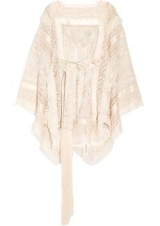 Zimmermann Maples crochet-trimmed embroidered silk-organza mini dress