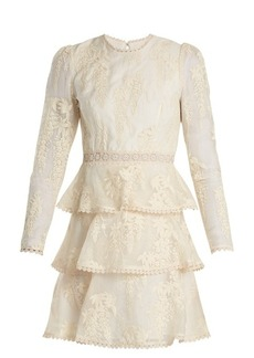 Zimmermann Maples floral-embroidered silk dress