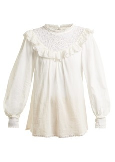 Zimmermann Melody crochet-detailed cotton shirt