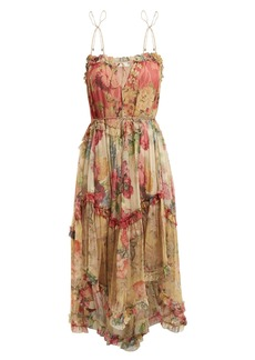 Zimmermann Melody Floating floral-print silk dress
