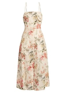 Zimmermann Mercer floral-print open-back dress