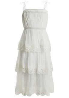 Zimmermann Meridian circle-lace silk dress