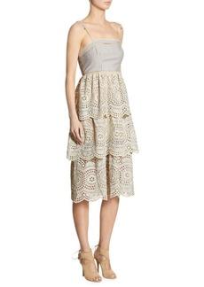 Zimmermann Meridian Striped Eyelet Dress
