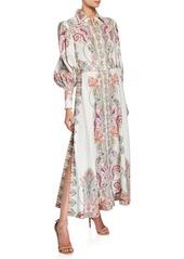 Zimmermann Ninety-Six Filigree Printed Button-Front Dress