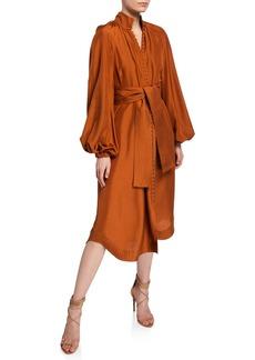 Zimmermann Ninety-Six Oversized Silk Shirtdress