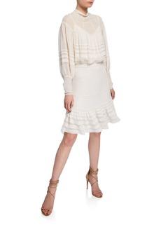 Zimmermann Ninety-Six Pintucked Mini Skirt