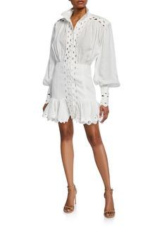 Zimmermann Ninety-Six Wave Linen Dress