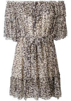 Zimmermann off-shoulder floral dress - Black