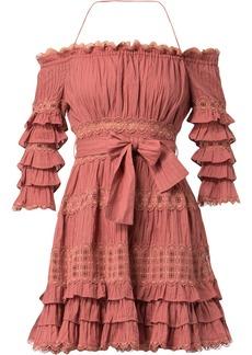 Zimmermann off-the-shoulder dress - Pink & Purple
