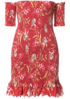 Zimmermann off-the-shoulder floral dress - Red