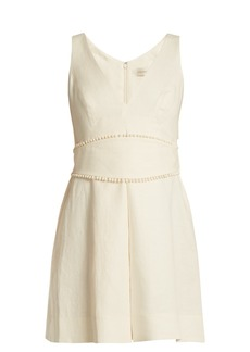 Zimmermann Painted Heart V-neck linen dress