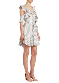 Zimmermann Painted Heart Ruffle Mini Dress
