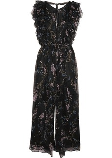 Zimmermann Paradiso Floating ruffled printed silk-georgette jumpsuit