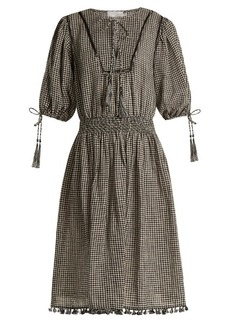 Zimmermann Paradiso gingham linen-blend dress