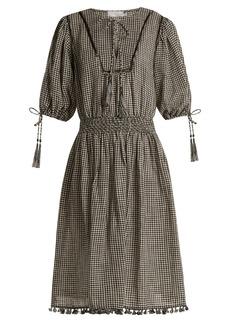 Zimmermann Paradiso gingham linen-blend dress