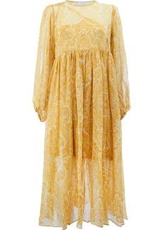 Zimmermann patterned dress - Yellow & Orange
