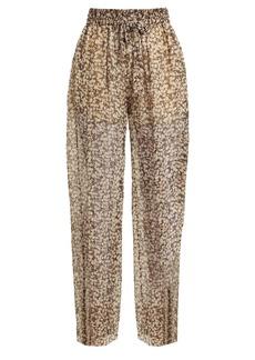 Zimmermann Prima Cherry silk-georgette trousers