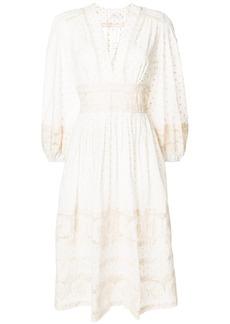 Zimmermann prima dot broiderie day dress - White