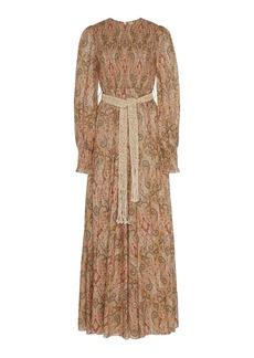 Zimmermann Printed Silk-Chiffon Maxi Dress