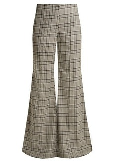 Zimmermann Rife checked kick-flare wool trousers