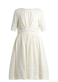 Zimmermann Roza embroidered cotton and silk-blend dress