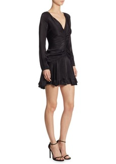Zimmermann Ruched V-Neck Mini Dress