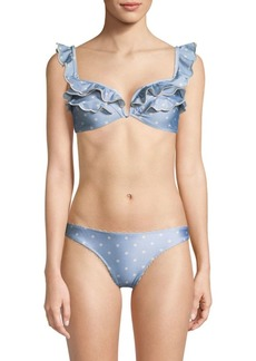 Zimmermann Ruffle Bikini Top