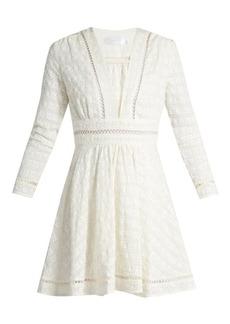 Zimmermann Ryker embroidered-cotton and silk-blend dress
