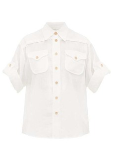 Zimmermann Safari patch-pocket voile shirt