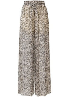 Zimmermann sheer floral trousers - Nude & Neutrals