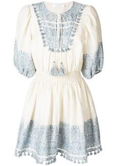 Zimmermann short printed dress - Nude & Neutrals