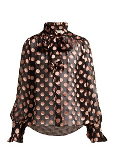 Zimmermann Silk-blend polka-dot blouse