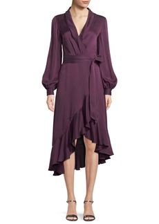 Zimmermann Silk Satin Wrap Dress