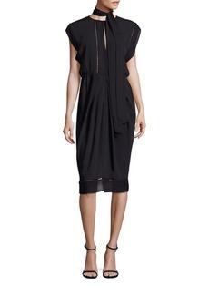 Zimmermann Solid Cape Sleeve Dress