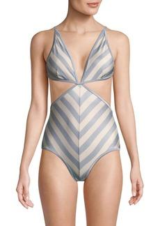 Zimmermann Striped One-Piece Swimsuit
