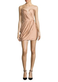 Zimmermann Sueded Silk Draped Strapless Dress