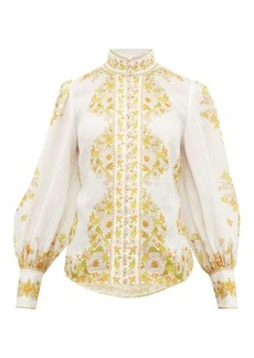 Zimmermann Super Eight floral-print gauze blouse