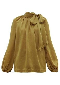 Zimmermann Super Eight pussy-bow silk-charmeuse blouse