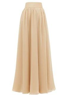Zimmermann Super Eight silk-charmeuse maxi skirt