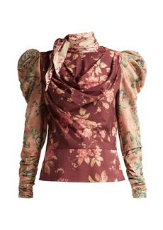 Zimmermann Tempest floral-print silk-blend twill blouse