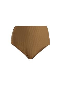 Zimmermann Textured high-rise bikini briefs