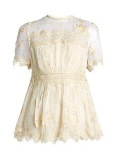 Zimmermann Tropicale Antique silk-georgette blouse